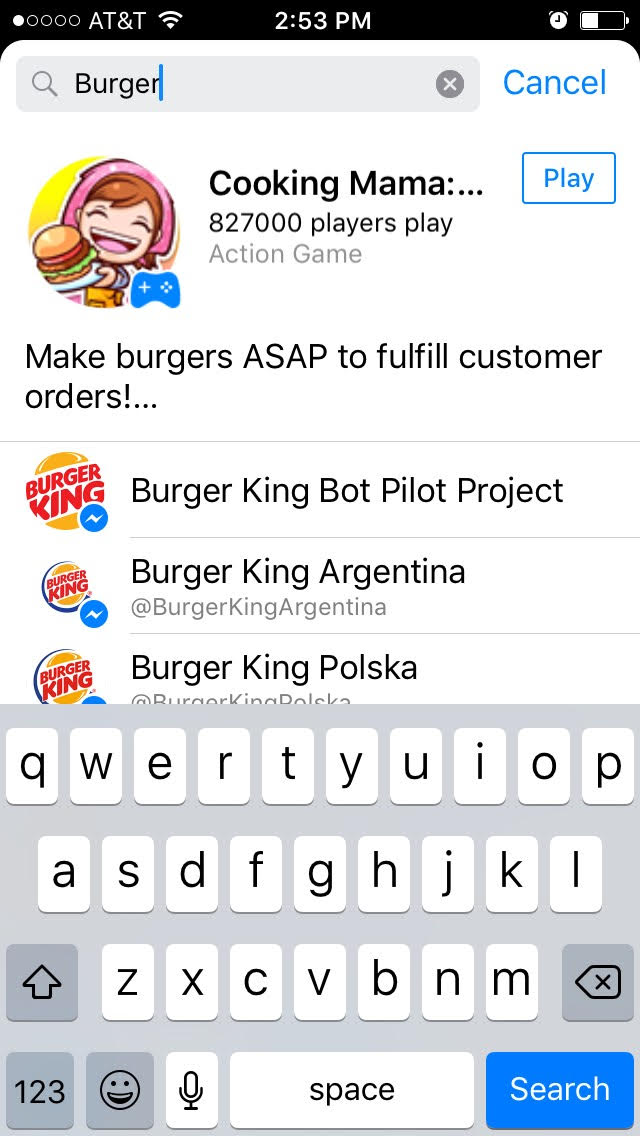 The Burger King chatbot can help customers order food.