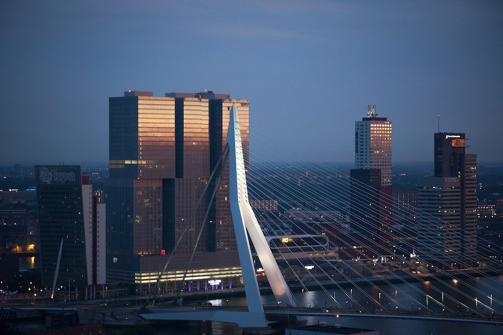 An image of the Erasmusbrug in Rotterdam. Dutch companies are working to bring innovative approaches to changing customer service preferences in the Netherlands.