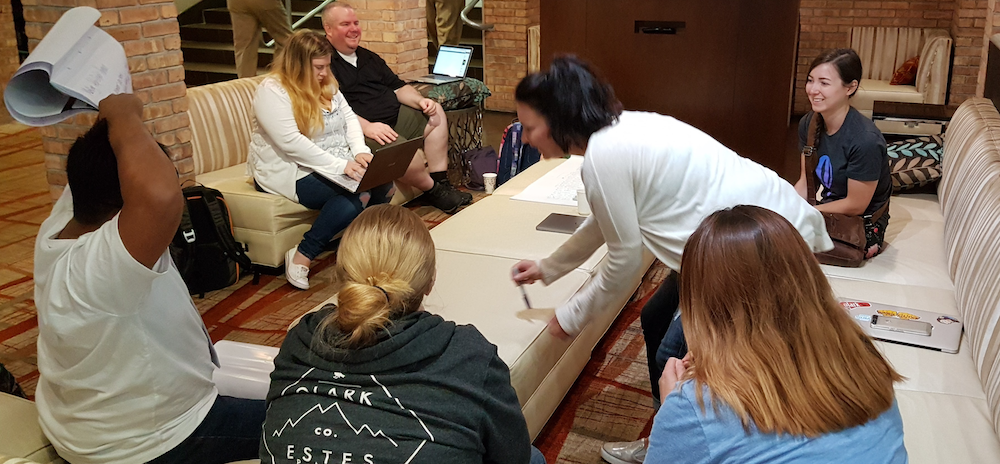 CS Team brainstorming session at retreat