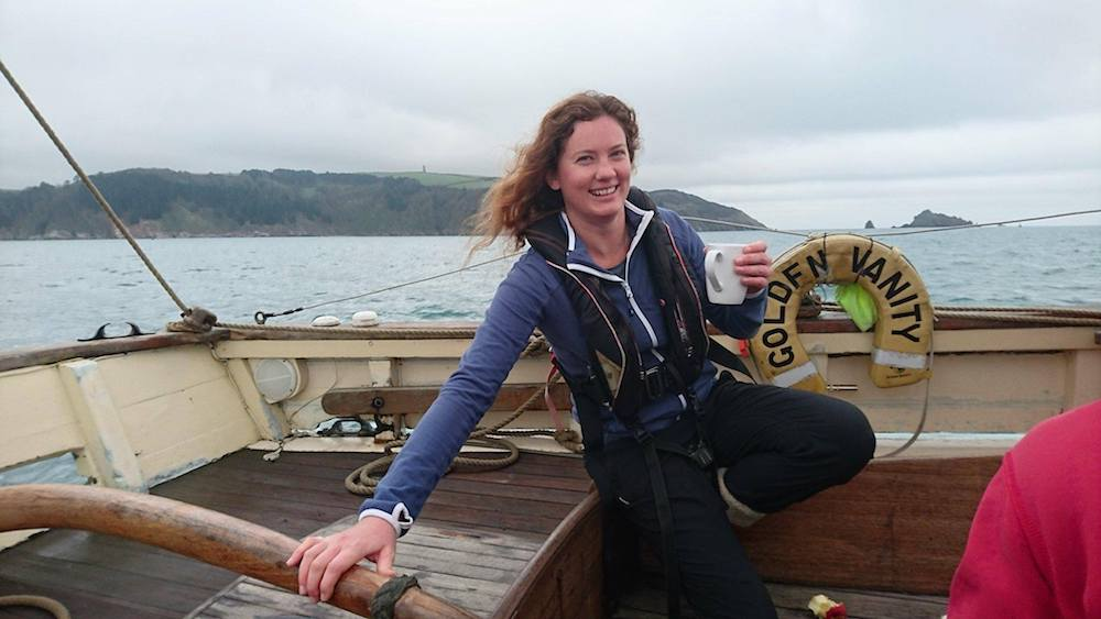 Becky Prizeman of UK-based company Classic Sailing. The company uses Olark live chat software on its website to offer tall ship and wooden boat trips.