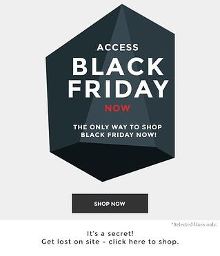 To increase sales, give loyal customers early access to special deals.
