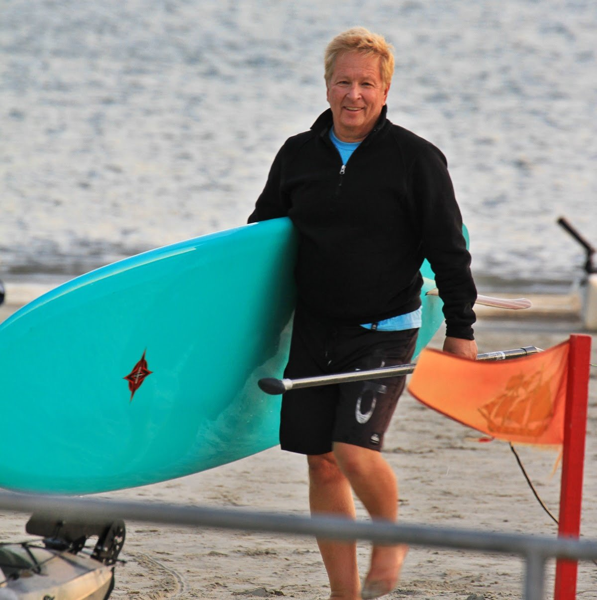 If he's not doing sales on Olark Live Chat, John prefers to be on a beach.
