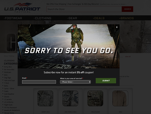 US Patriot Tactical has some pretty sweet exit offers.