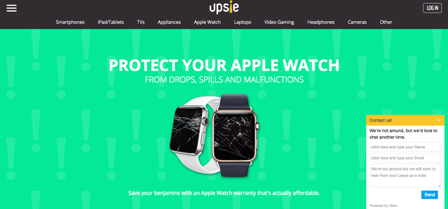 Upside uses Olark to capture leads even when they're offline.