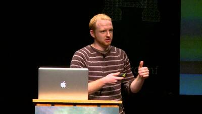 Olark CEO, Ben Congleton, on stage at UserConf.