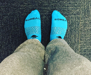 Bombas socks are comfortable and durable.