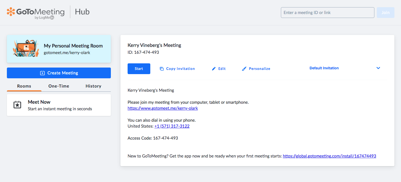 GoToMeeting ID