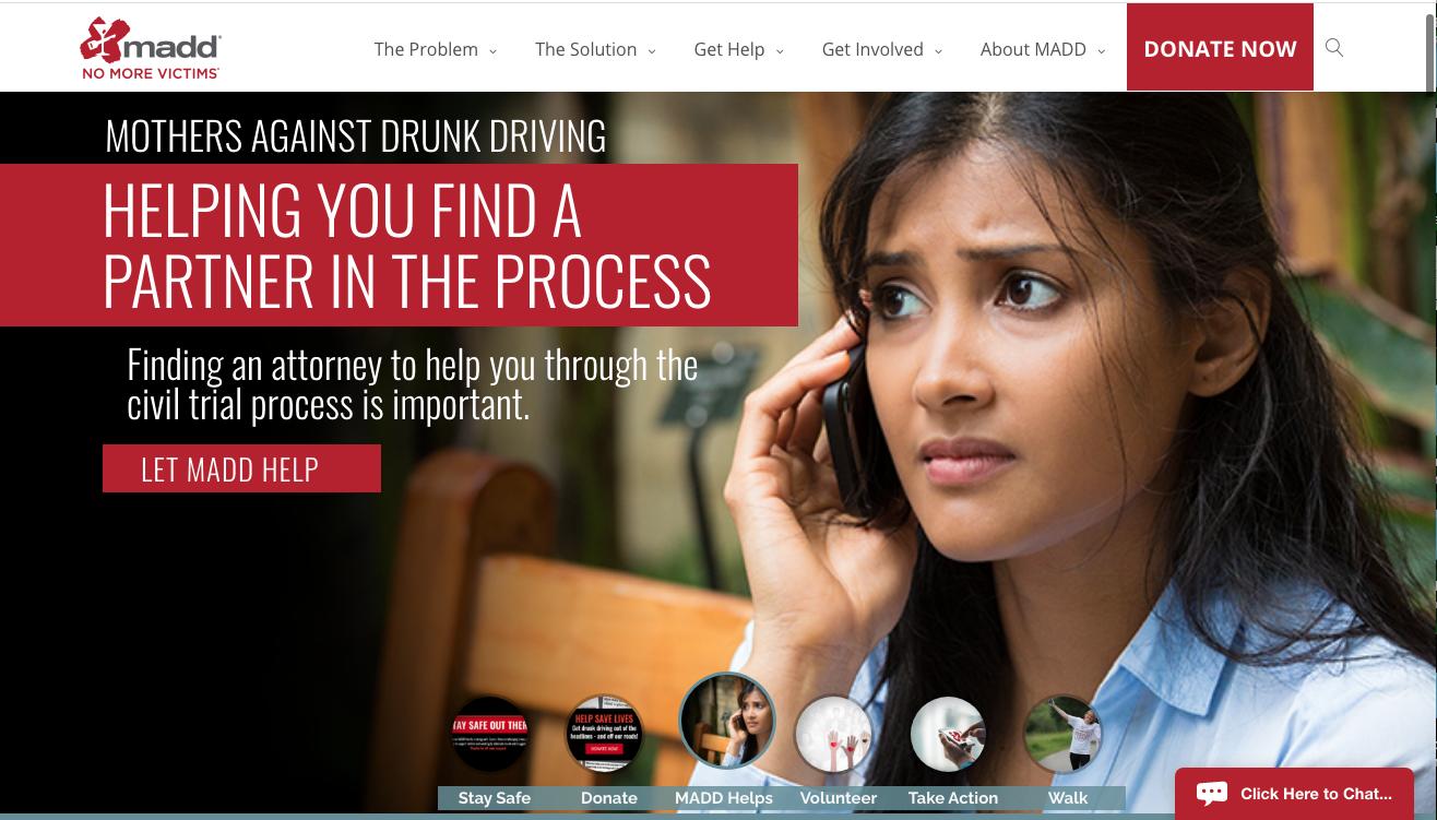 MADD homepage