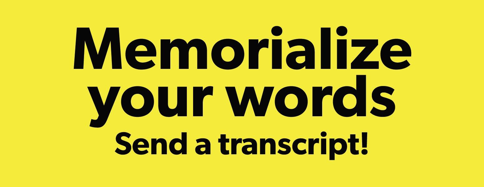 What Would Barbara Do: Send a transcript!